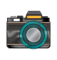 retro photo camera lens equipment photography icon vector image