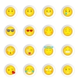 Smiles icons set vector image