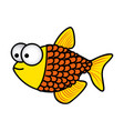 happy fish scalescartoon icon vector image