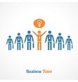 human symbol teamwork Idea concept vector image vector image