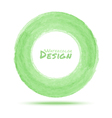 Hand drawn watercolor light green circle design el vector image
