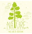 tree nature ecology vector image vector image