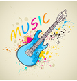 background with electric guitar vector image vector image