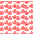 Design seamless colorful striped hearts pattern vector image