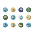 Search optimization flat color icons vector image
