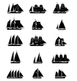 Sailing Ships Set vector image