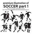 Premium Soccer Part 1 vector image vector image