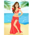 Beautiful belly dancer harem woman vector image