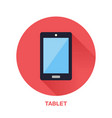 black tablet with blank screen flat style icon vector image
