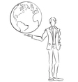 Business and world vector image