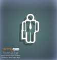 businessman icon symbol on the blue-green abstract vector image