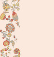 Flower pattern hand-drawn cute doodle vector image