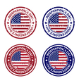 Independence day rubber stamps vector image