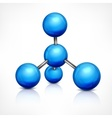 Molecule in blue on white vector image