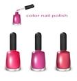 Set of nail polish vector image