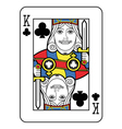 Stylized King of Clubs vector image