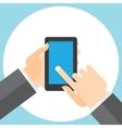 touchscreen smartphone in your hand vector image