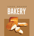 wheat bread bakery background vector image