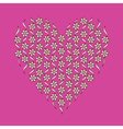 Floral pattern in the form of heart vector image