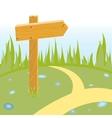 wooden arrow on the road vector image