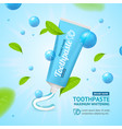 whitening toothpaste promotion concept card vector image