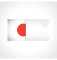 Envelope with Japanese flag card vector image