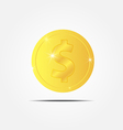 coin with sparkle vector image vector image
