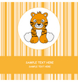 greeting card tiger vector image