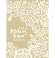 Card with a white lace vector image vector image