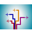 Airplanes and lines vector image