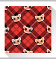 Animal seamless pattern collection with piggy 6 vector image
