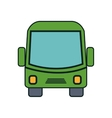 bus icon over white background isolated design vector image