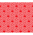 Chain mail of the links in form of red hearts vector image
