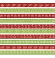 Christmas seamless borders for holiday design vector image