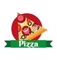 delicious pizza design vector image