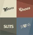 Fashion logo design concepts vector image