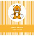 greeting card tiger vector image