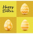 Happy Easter greeting post card with colored eggs vector image