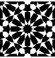 Moroccan black pattern vector image