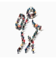 people sports nordic walking vector image