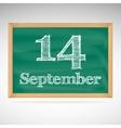 September 14 day calendar school board date vector image