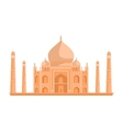 Tadj Mahal in Flat Design vector image