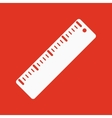 The ruler icon Ruler symbol Flat vector image