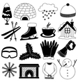 Winter Icons Collection vector image