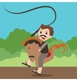 kuda lumping traditional Indonesia games vector image