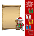 Happy Santa Scroll Holding a Gifts vector image vector image