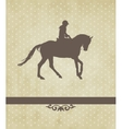 Horsewoman vector image vector image