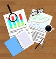 infochart income economic vector image