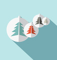 Paper Trees Flat Design vector image