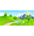 Green Landscape with Road vector image vector image